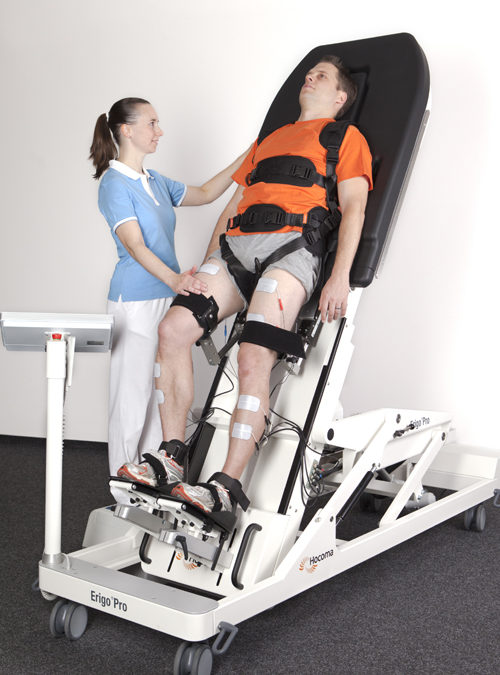 Der Roboter-Positionierungstisch Erigo®Pro bereits Patienten dienen