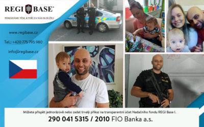 O policistu v těžké životní situaci se postará Nadační fond REGI Base. Do veřejné sbírky se může zapojit každý