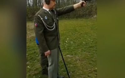 Veteran after a severe head injury, returns to the shooting range
