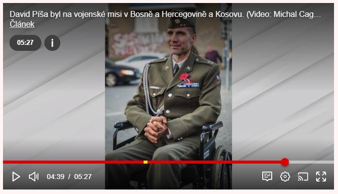 Armáda na mě zapomněla, říká válečný veterán s roztroušenou sklerózou